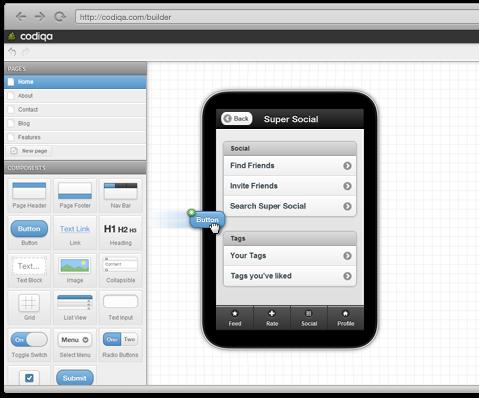 CodiqaによるGUI編集イメージ