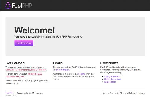 FuelPHPのルート画面